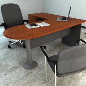 Muebles de oficina lima modernos baratos precios for Mesa oficina en l